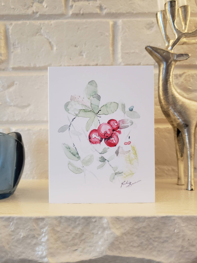 Forest berries greeting card