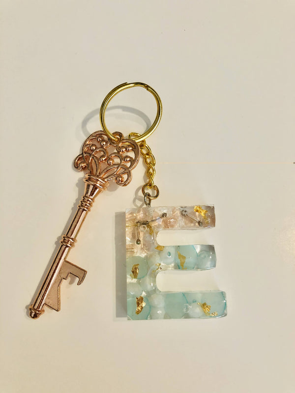 Initial Keychains E