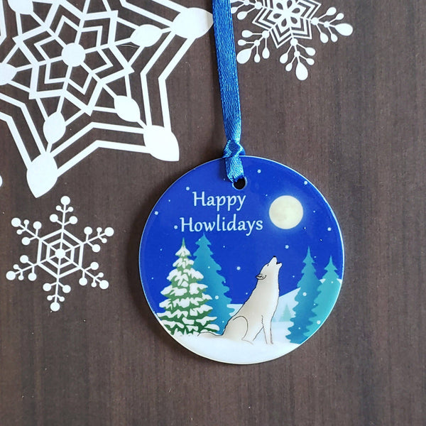 Happy Howlidays Ornament