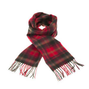 Canadian Dark Maple Tartan Lambswool Scarf