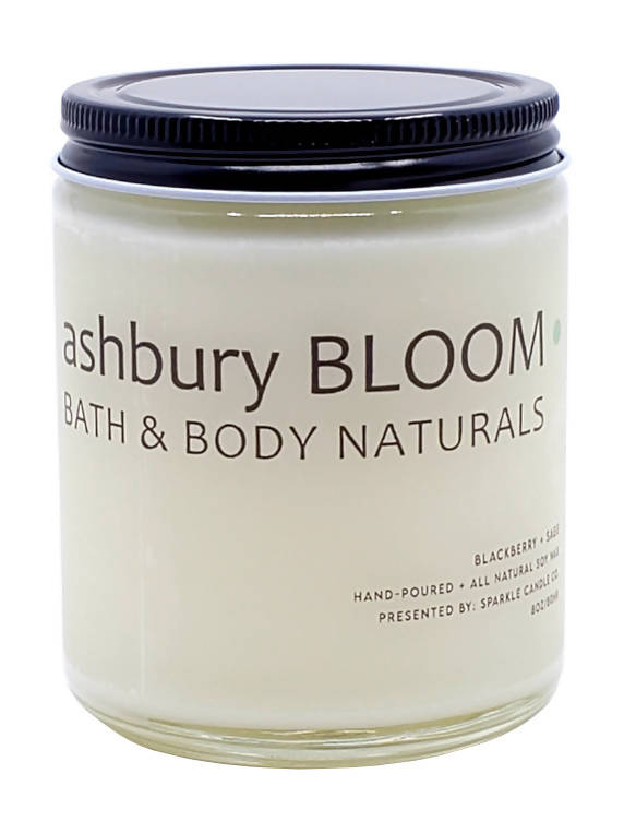 Blackberry + Sage Candle 8oz (Soy Wax)