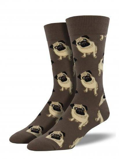 Socksmith Men's Pugs Graphic Socks
