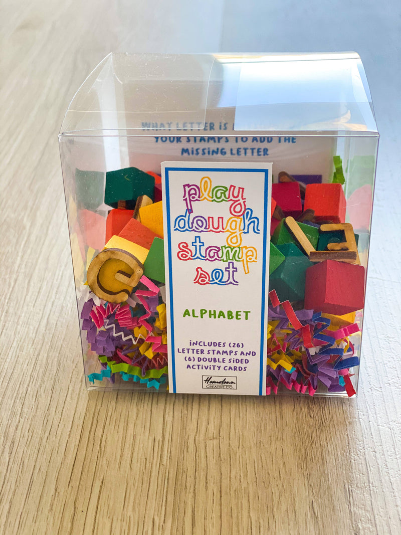 Alphabet Play Dough Stamp Set