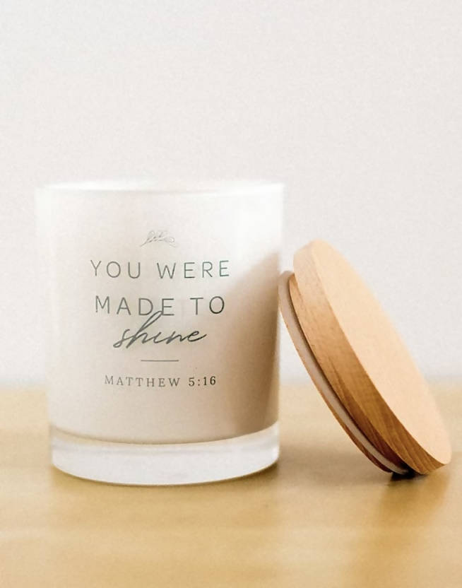 MADE TO SHINE CANDLE 6oz - MAPLE CHAI & SWEET CREAM