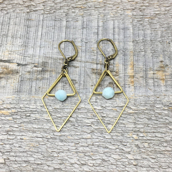 Brass Diamond Earrings
