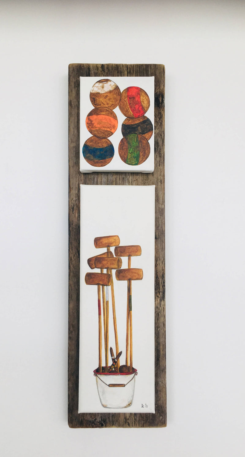 vintage cottage series - croquet