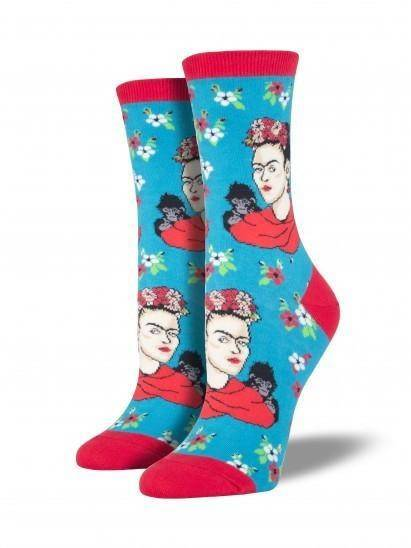 Socksmith Ladies Kahlo Portrait Graphic Socks