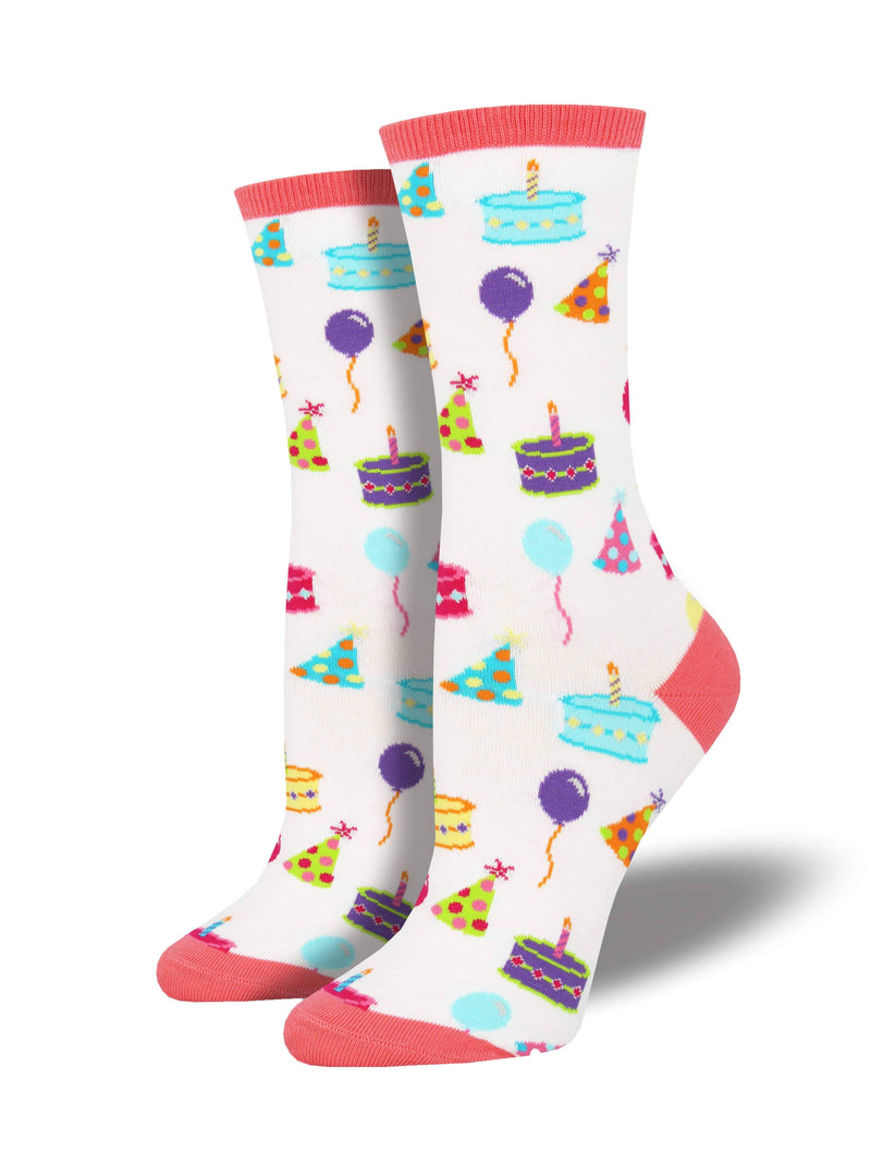 Socksmith Ladies Happy Birthday To You Graphic Socks