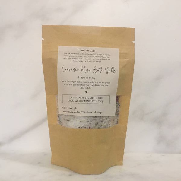Lavender Rose Bath Salt Soak - 3oz.