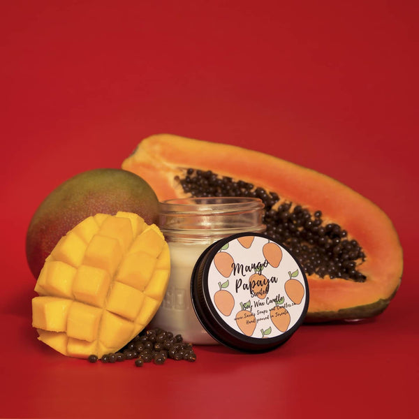 Mango papaya soy candle - 7oz