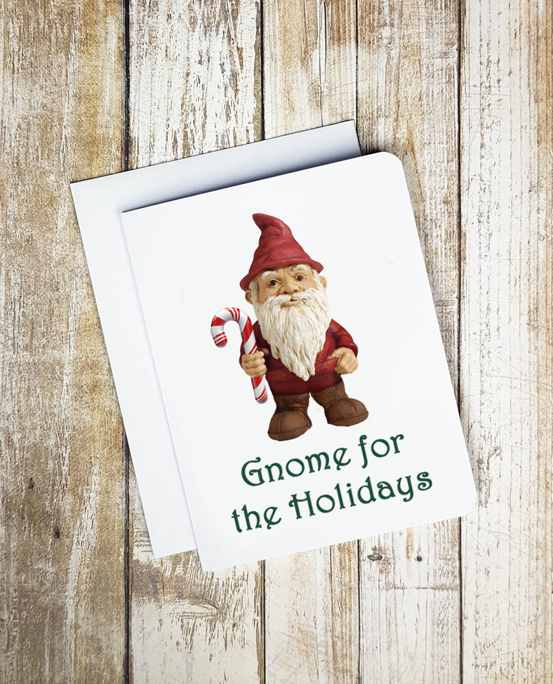 Gnome For The Holidays Christmas Card