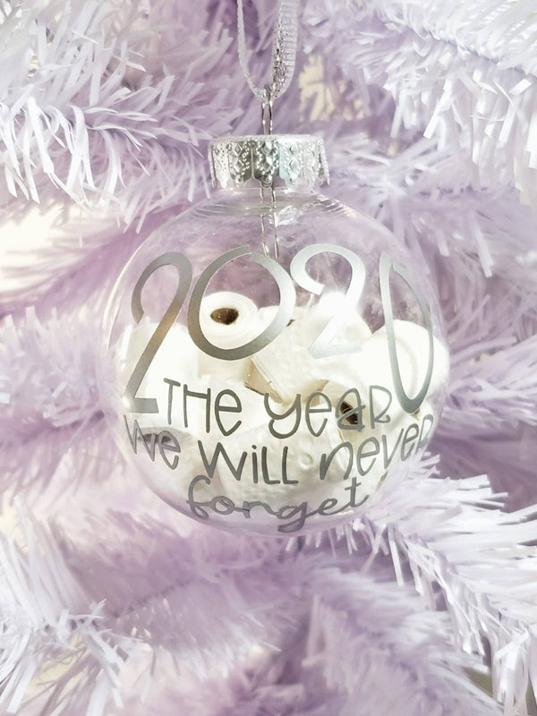 2020 The Year We Will Never Forget Ornament With Mini Toilet Paper Rolls