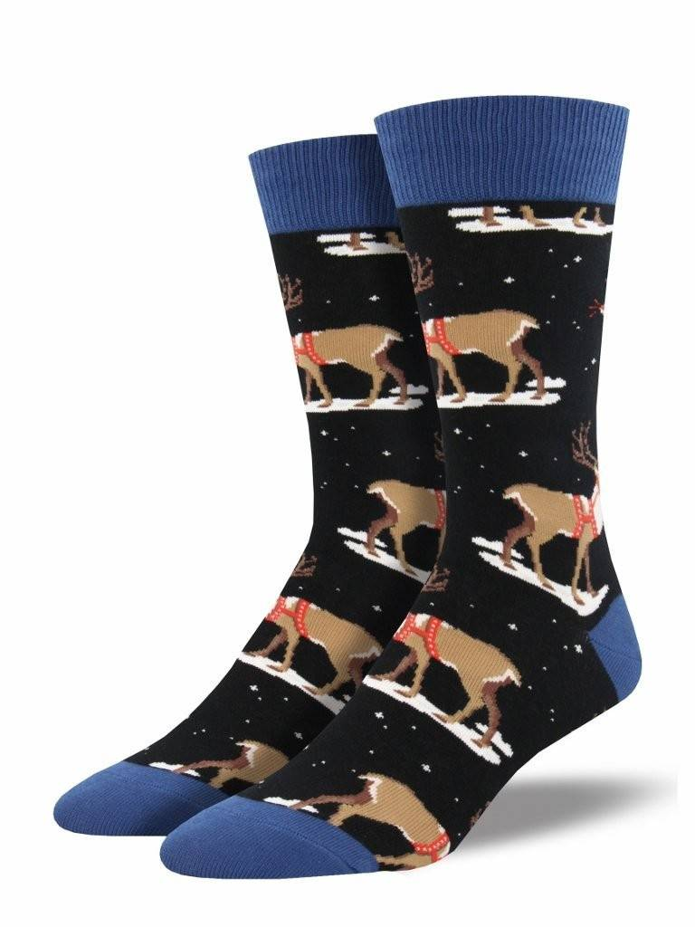Socksmith Men's Winter Reindeer Graphic Socks