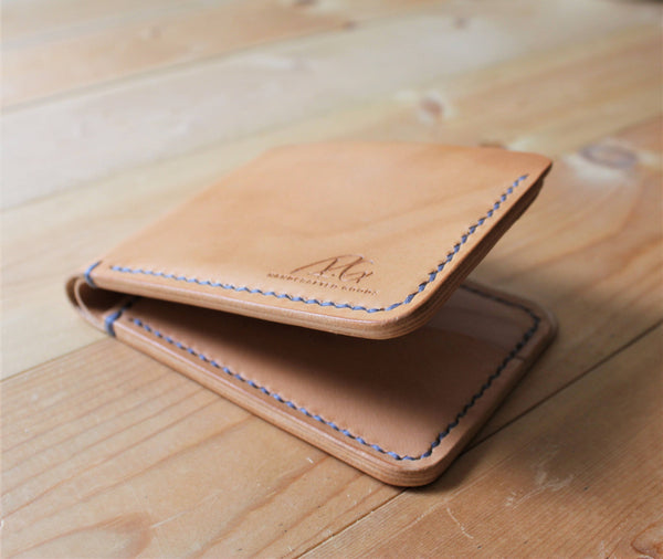 The classic - bifold leather wallet - elegant premium Italian leather accessories
