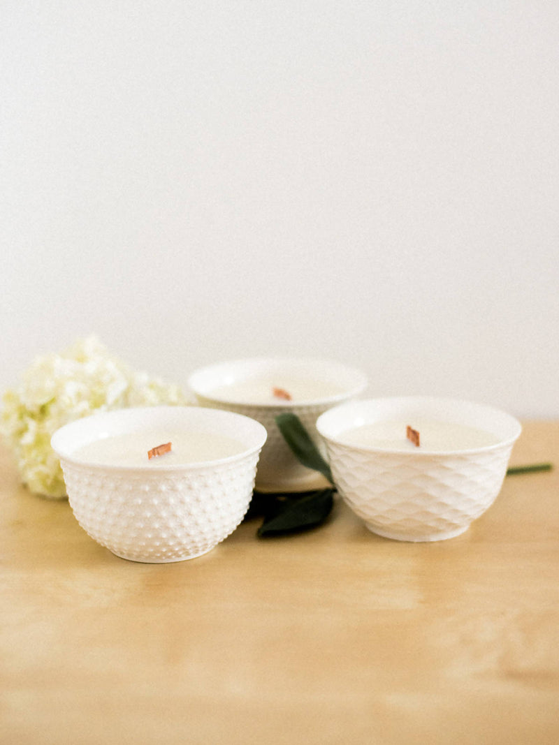 BRILLIANCE BOWLS-WHITE (355ml /12oz) CASHMERE VANILLA
