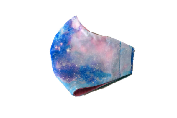 Large Reusable Fabric Face Mask with Filter Pocket - Galaxy