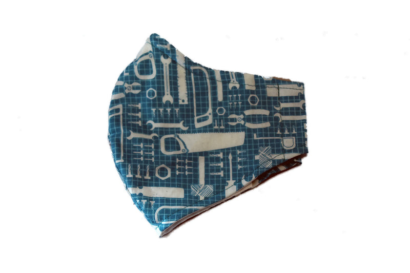 Large Reusable Fabric Face Mask with Filter Pocket - Turquoise Tools