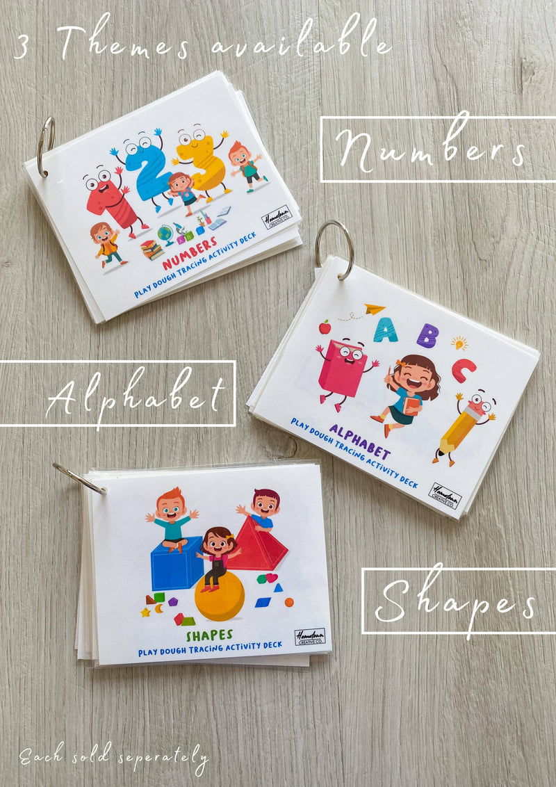 Alphabet Play dough tracking activity deck