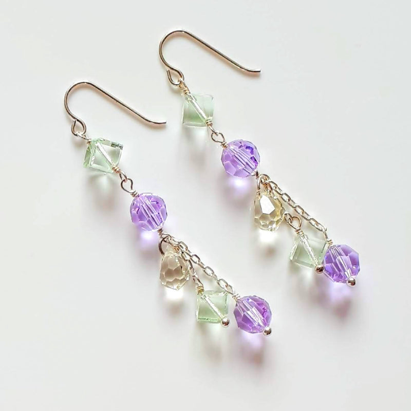 Swarovski Dangle Earrings - Pastel