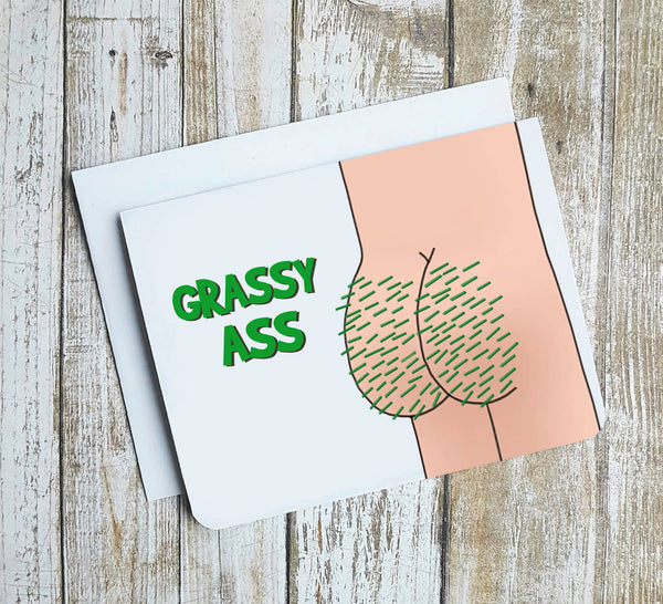 Grassy Ass Card