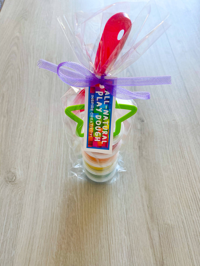 Rainbow play dough set