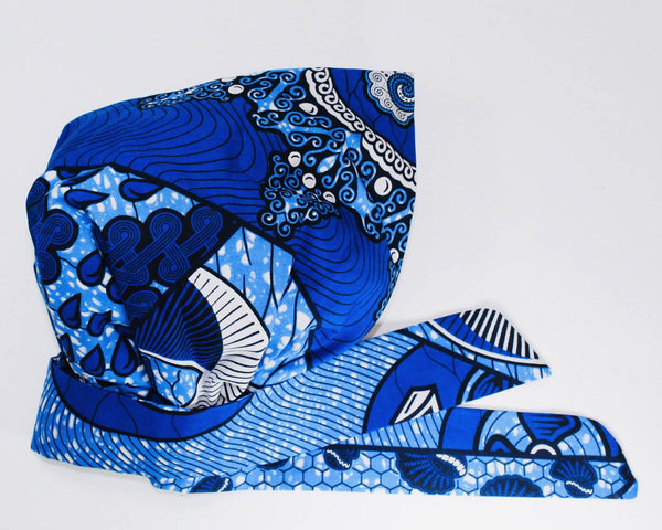 DEEP BLUE CAP & TIE SIZE SMALL