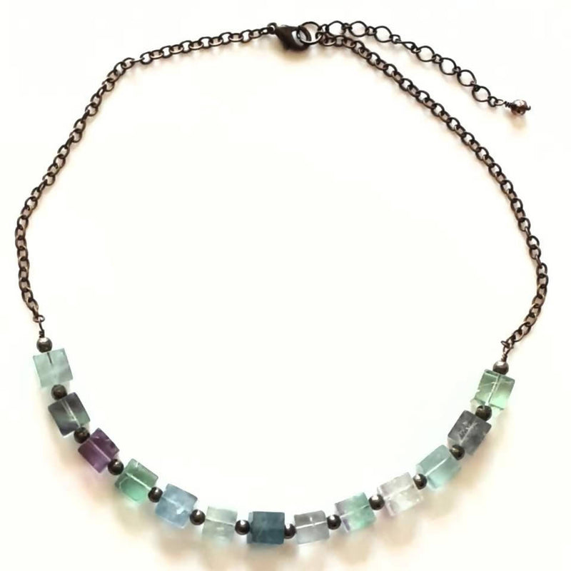Fluorite and Pyrite Necklace