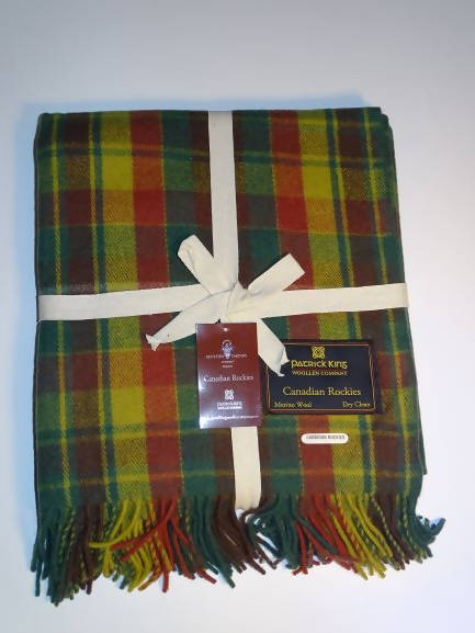 Canadian Rockies Tartan Wool Blanket