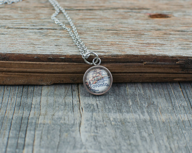 Toronto Map Necklace