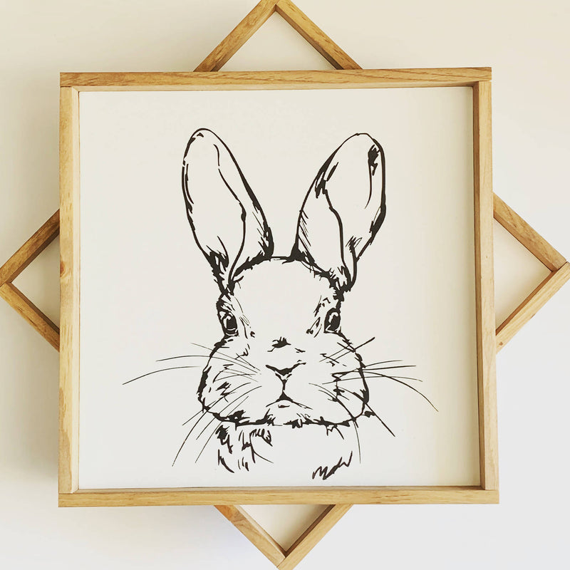 Bunny Wood Sign