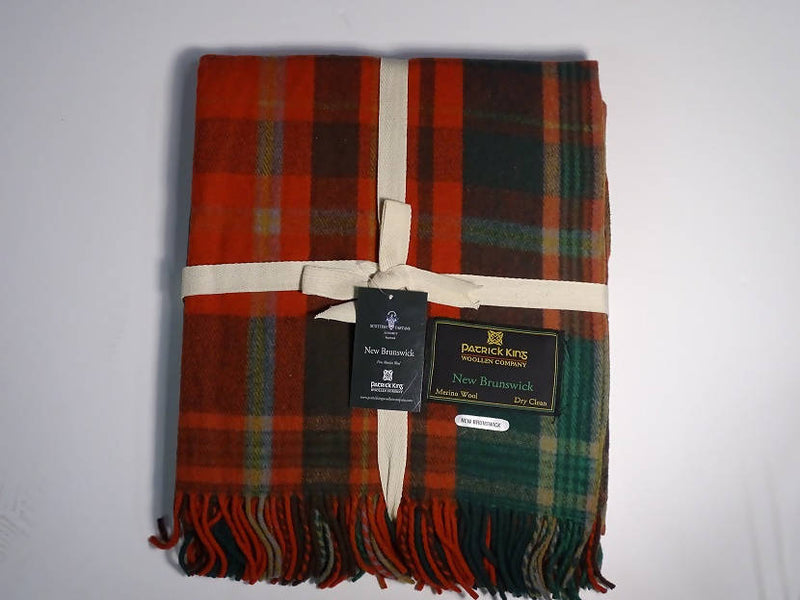 New Brunswick Merino Wool Tartan Blanket