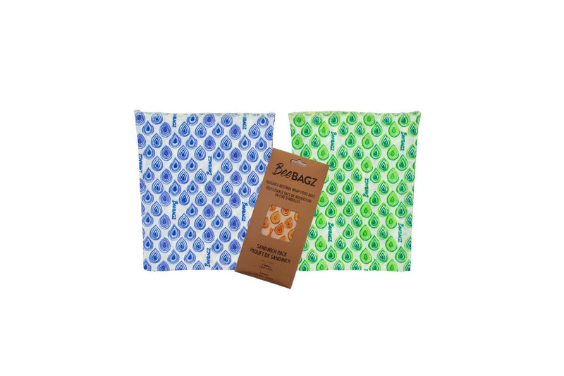 BeeBAGZ Sandwich Pack - Beeswax Wrap Food Storage Bags
