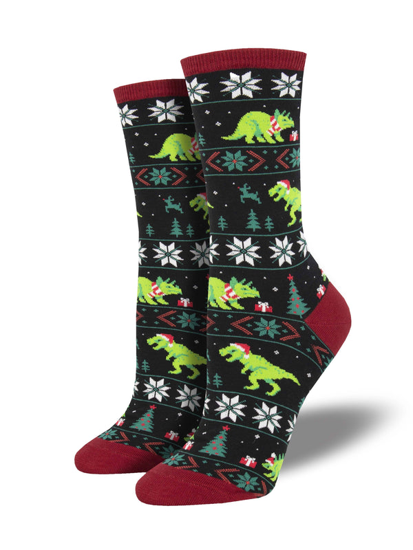 Socksmith Ladies Santasaurus Rex Graphic Socks