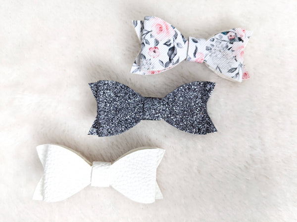 Set of 3 Bows - Hair Clips