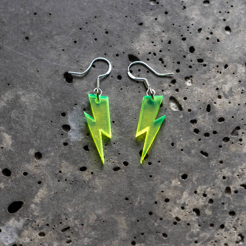 Acrylic Lightning Bolt Earrings