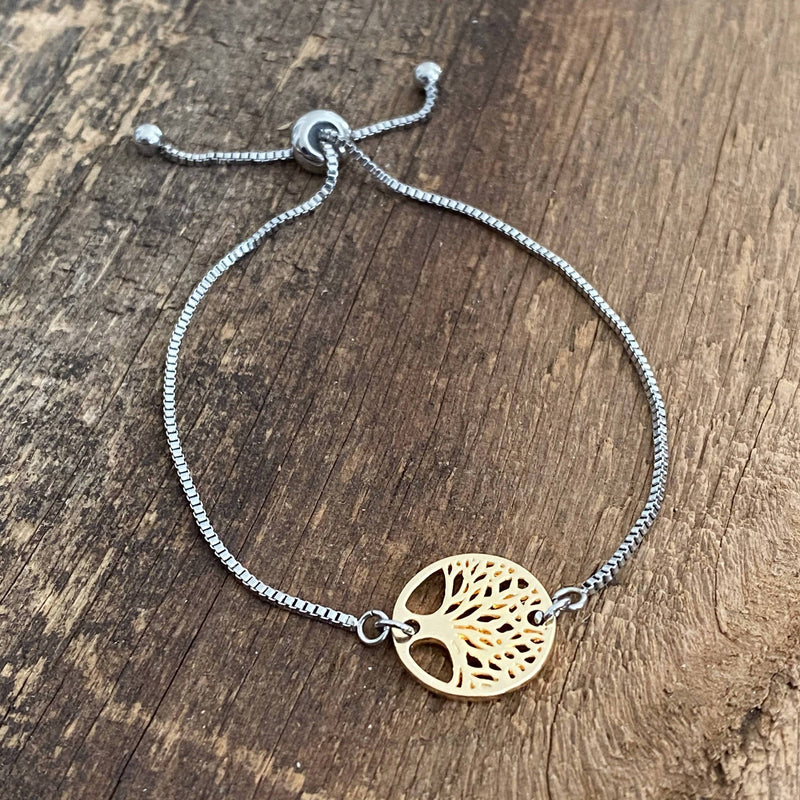 Gold Tree Adjustable Bracelet