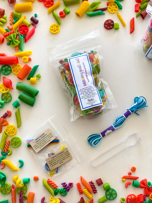 Sensory play rainbow pasta play kit - small size