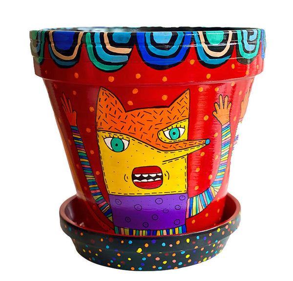 "Fox planter. Fox plant pot. Flower pot ""Los Zorros"""