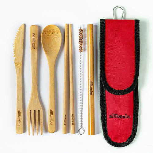 On the go cutlery set