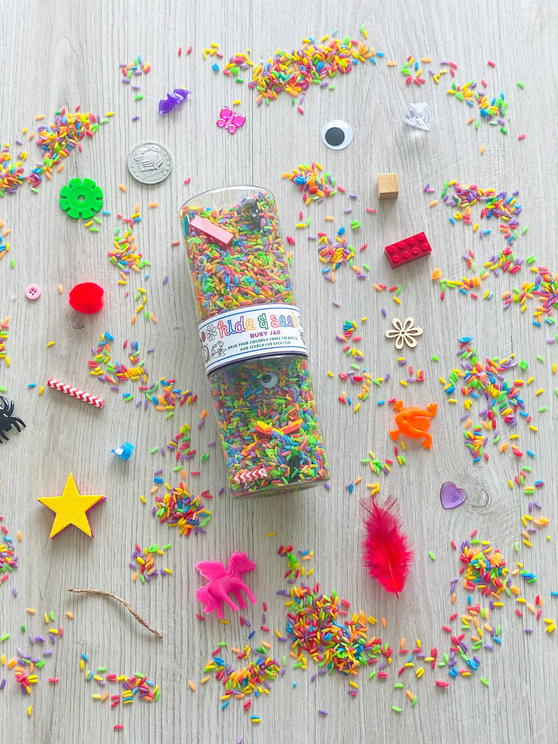 Rainbow Hide & Seek Jar