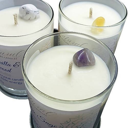 Soy Candles with Crystal Gemstone