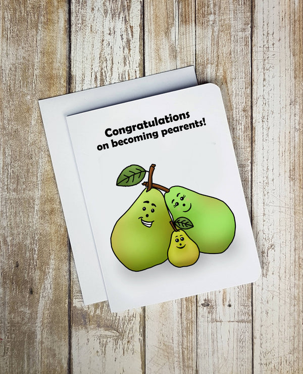 Congrats On Becoming Pearants Card