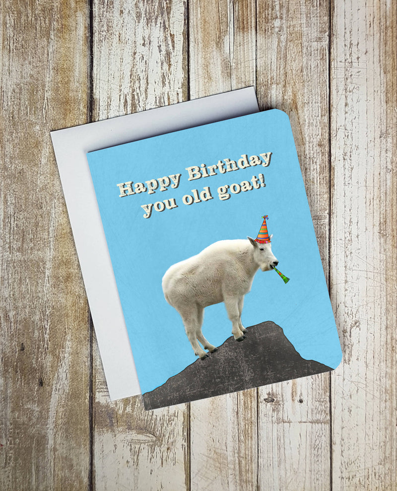 Happy Birthday You Old Goat Card