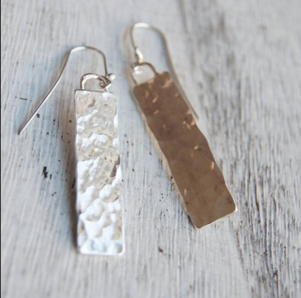 Silver Monolith Earrings