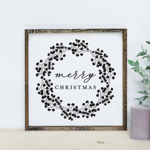 Merry Christmas Wood Sign *HD Original*