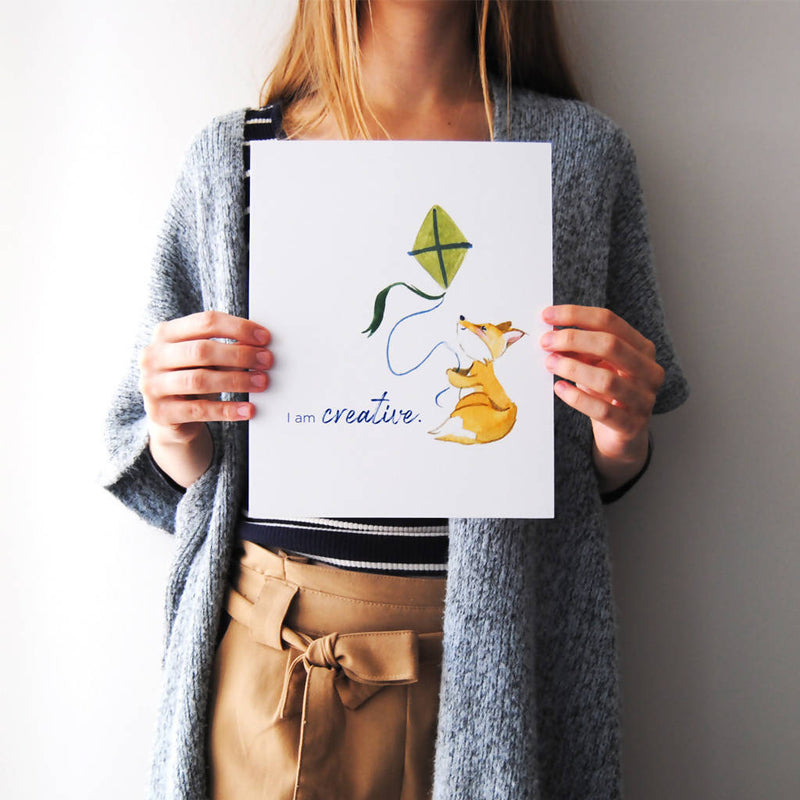 I Am Creative Affirmation Poster Print