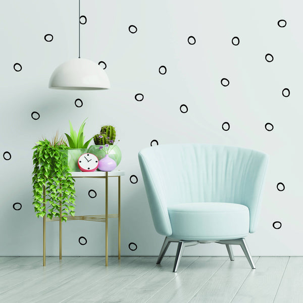 Open Circles Hand Drawn Wall Decals