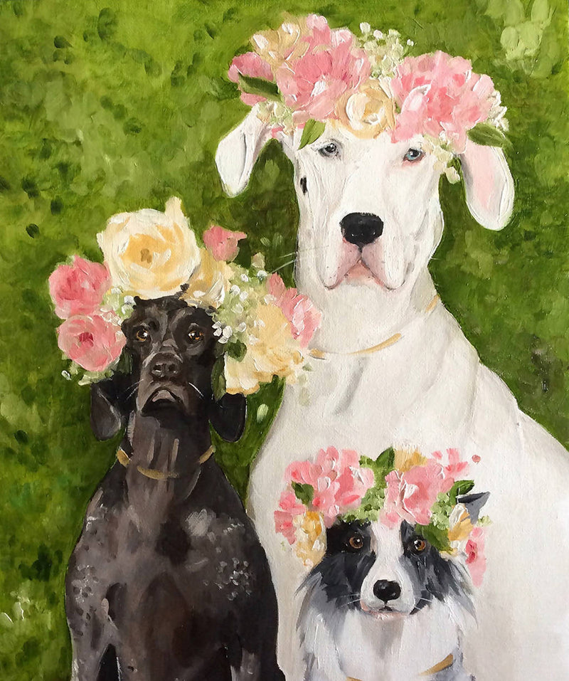The Flower Girls - Fine Art Print