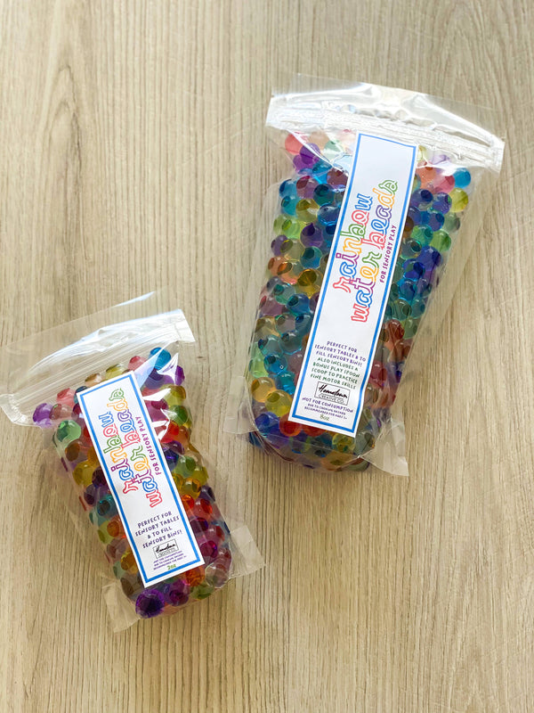 Sensory play rainbow water beads play kit - large size