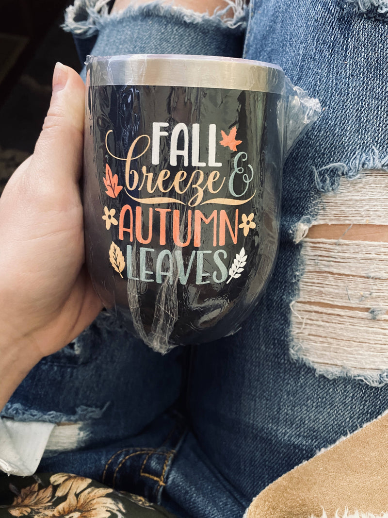 Fall, 12oz Aluminum Drinkware